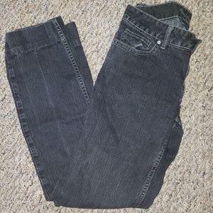Simply Vera Vera Wang Gray Black Stretch Jeans 4
